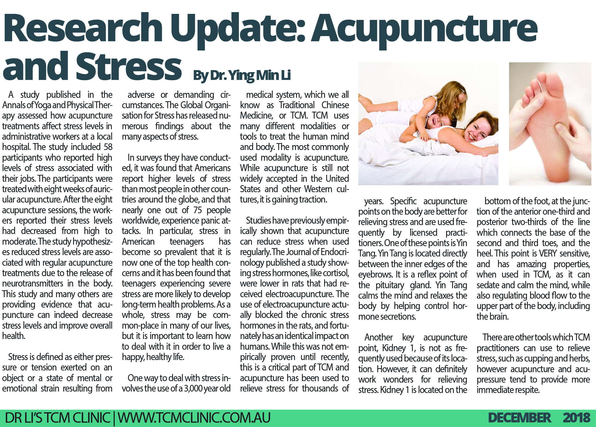 Acupuncture and Herbal Medicine for Stress Relief Research Article
